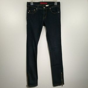 FIRE Lori Skinny Zippered Ankle Jeans Size 7